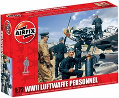 Figures in this set are posed loading fixing and maintaining as well as including aircrew in both standing and running posesBox contains unpainted plastic 48 parts