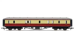FW Hawksworth was last chief engineer of the Great Western Railway and introduced a range of modern coahes with a distinctive roof outline. These have long been requested by modellers of the late GWR and early BR Western region years as these coaches formed the prestigeous expresses of the period.This passenger brake van or full brake will cerry pre-1953 colours.