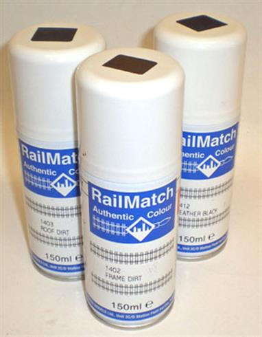 Railmatch Grey Etch Primer 150ml Aerosol 1503This 150ml aerosol gives you an easier way of applying etching primer to larger areas. Suitable for use on aluninium and brass surfaces (ensure they are prepared thoroughly before applying; degreasing etc).