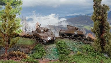 Italeri 7518 1/72 Scale US M4A3 75mm Sherman TankDimensions - Length 80mmTwo fast assembly sherman tank kits for use with wargaming. Decals and full instructions are included.