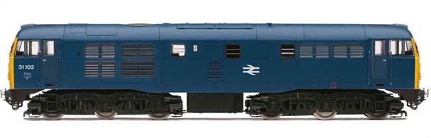 The Brush type 2 class 31 locomotives served throughout the British Rail era hauling many secondary passenger trains, mails and parcels services and the general goods trains which were later to form the Speedlink networkThis model is finished in the BR corporate era blue livery.Expected  October 2019Era 7 1973-1985