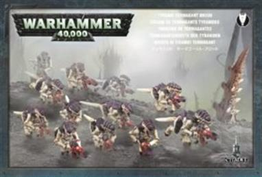 This box set contains 12 multi-part plastic Termagants and one Ripper Swarm. This 175-piece set includes: three different head designs, two different body designs, fleshborers, spinefists, devourers, adrenal glands and toxin sacs. Also included are 12 25mm round bases and one 40mm round base.