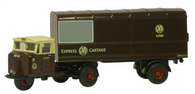 Oxford Diecast 1/148 GWR Scammell Mechanical Horse Van Trailer NMH011