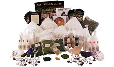 Use the Scenery Clinic for demonstrations, interactive clinics and educational projects.Includes complete step-by-step instructions, an instructional DVD and all the materials necessary to paint and landscape six mountain dioramas.