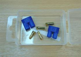 Pair of 3mm Gold Plated plugs & sockets with housings