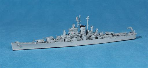 Navis Neptun 1340D USS Fargo a modified Cleveland class cruiser 1945 waterline Model 1/1250