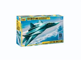 Zvezda 7275 1/72nd Sukhoi T50 Stealth Fighter KitNumber of Parts 70   Length 295mm
