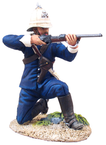 W Britain Natal Carbineers Trooper Kneeling & Firing - No1<p>The Natal Carabineers Regiment traces its roots to 1854 but it was formally raised on 15 January 1855</p><p>A trooper under the command of Colonel Durnford kneels down to fire at the attacking Zulus. After running out of ammunition he and his fellow troopers carried on fighting with knives but all were eventually overcome and killed</p><p>1/30 Scale</p><p>Matt Finish</p>