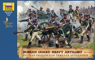Zvezda 1/72 Russian Heavy Artillery with Crew Napoleonic Wars 8045Box contains 35 unpainted figures and 3 unpainted cannonsPaints are required to complete the figures (not included)