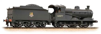 Bachmann Branchline 31-321DS OO Gauge BR 64377 Robinson J11 Class (GCR Class 9J) 0-6-0 British Railways Black Livery Early Emblem - Weathered Finish - DCC & Sound FittedAn excellent model of the ex-Great Central Robinson design 0-6-0 goods engine, classed as J11 by the LNER.DCC fitted, with sound