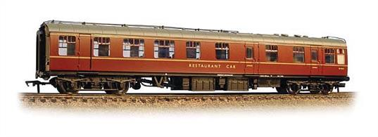 Bachmann Branchline 39-103C 00 Gauge BR Mk1 RU Restaurant Unclassified Car RU Maroon LiveryAn excellent model of the BR Mk.1 general purpose unclassified restaurant car in the BR maroon livery of the 1960s.These restaurant cars featured a large kitchen area able to provide dinner service and a half-coach of seating for diners.Era 5