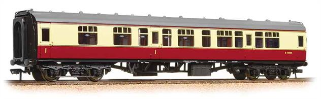 BR Mk1 composite 1st/3rd class coach in BR crimson and cream livery from the 1950's. Era 4
