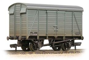 BR midland region numbered wagon.The Southern Railway built batches of their standard box vans with the distinctive alternating broad and narrow planks for all of the major railway companies during WW2. These vans passed to BR in 1948, carrying regional numbers appropriate to their previous owners.
