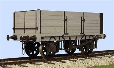 A detailed model kit of a 6 plank open mineral wagon with side and end doors built by the Gloucester Railway Carriage and Wagon Company wagon to the RCH 1887 design.The 6 plank wagon was designed to carry 10 tons and was built until the 1907 RCH specification was introduced when a 7 plank 12 ton design became standard. The top plank(s) of the 6 and 7 plank wagons were usually continuous, providing added strength to the body, though sometimes a top flap door was fitted. Wagons with end doors were favoured by collieries, coal factors (wholesalers), exporters and large consumers (eg. heavy industry and gas companies) as the end door allowed rapid discharge by tipping. Side and bottom doors were also fitted so the wagons could easily be used for manual or hopper unloading. Supplied with metal wheels, 3 link couplings and sprung buffers