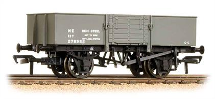 A model of the LNER design steel-bodied open merchandise wagon fitted with wood doors. A devlopment of this wagons design became the BR standard pattern.This model will be painted in LNER oxide goods wagon livery.