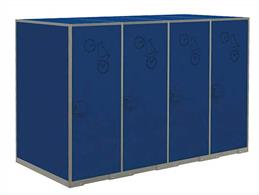 Scenecraft 44-547 00 Gauge Cycle CabinetsLocking cycle cabinets are intsalled at many railway stations to provide secure storage for bicycles and promote cycling as a viable means of transport to and from the ralway station.Measures 32mm x 16mm x 22mm