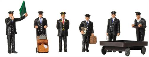 Bachmann OO Station Staff 1940 & 50s 6 Figure Pack 36-404