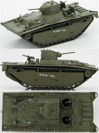 "Hobby Master LVT(A) -1 Pacific Theatre, 1944 - 1945 ""The Bloody Trail""<p>1/72 Scale</p><p>The LVT (Landing Vehicle Tracked) was a class of amphibious vehicles designed for the U.S.Military during WWII. The original idea was for a cargo carrier from ship to shore. It wasn't long before it evolved into a troop carrier and a fire support vehicle. After Tarawa the LTV(A) -1 and LVT(A)-4s were developed into Amtanks with the addition of more armour and heavy fire power.</p>"