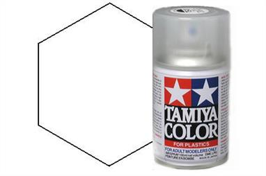 Tamiya TS79 Semi Gloss Clear Synthetic Lacquer Spray Paint 100ml TS-79These cans of spray paint are extremely useful for painting large surfaces, the paint is a synthetic lacquer that cures in a short period of time. Each can contains 100ml of paint, which is enough to fully cover 2 or 3, 1/24 scale sized car bodies.