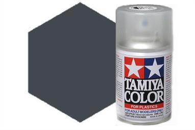 Tamiya TS82 Black Rubber Synthetic Lacquer Spray Paint 100ml TS-82These cans of spray paint are extremely useful for painting large surfaces, the paint is a synthetic lacquer that cures in a short period of time. Each can contains 100ml of paint, which is enough to fully cover 2 or 3, 1/24 scale sized car bodies.