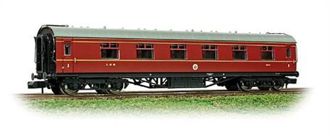These LMS Stanier era smooth-sided coaches entered service in the 1930s and could be seen still in use into the 1960s.