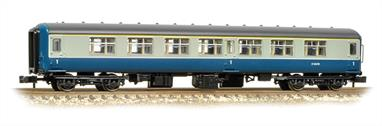 Model of the early type BR mk 2 coaches. These coaches featured semi-integral construction, providing a much stronger body structure than the separate underframe and body arrangements used previously while delivering more usable internal space for passengers. Mk.2A was a revised design based on service experience of the initial Mk.2s and incorporating a number of new materials, including easily cleaned plastic surfaced panelling.
