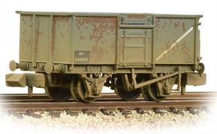 An excellent model of the standard BR 16-ton open mineral wagon. Subjected to harsh treatment and often loaded with mildly corrosive materials, the rust weathering on this model represents the condition that many of these wagons were seen in.