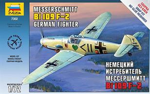 Zvezda 7302 1/72nd German Messerschmitt Bf109 f-2 German Fighter KitNumber of Parts 42 Length 128mm