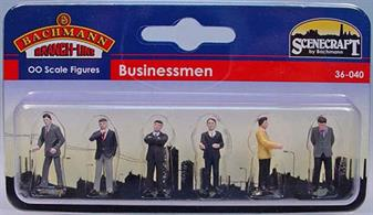 Bachmann OO Businessmen Pack of 6 Figures 36-040Pack of six pre-painted figures in business suits.
