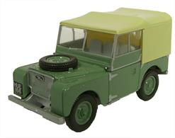 Oxford Diecast 1/76 Sage Green (HUE) Land Rover Series I 80 76LAN180001