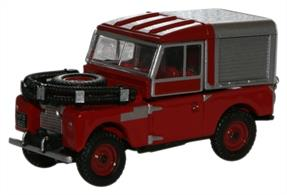 Oxford Diecast 1/76 Red Land Rover 88 Fire 76LAN188012