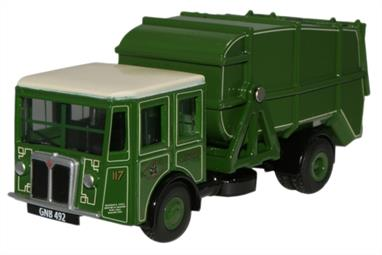 Oxford Diecast 1/76 Manchester Corporation Cleansing Dept Shelvoke & Drewry Dustcart 76SD003