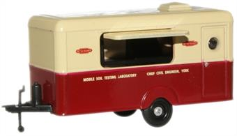 Oxford Diecast 1/76 British Rail Mobile Soil Testing Laboratory Trailer 76TR003British Rail Mobile Soil Testing Laboratory Trailer