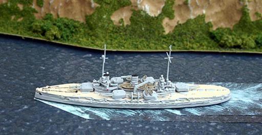 Navis Neptun 5S SMS Nassau, with painted decks & details 1/1250
