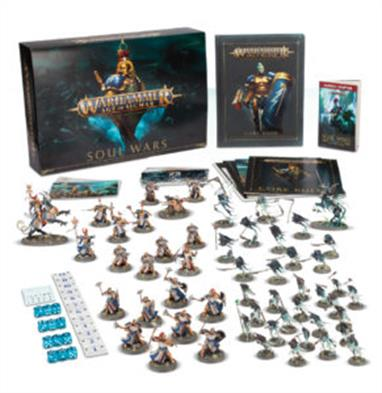 Containing 52 push-fit Stormcast Eternals and Nighthaunt miniatures, along with a 320-page hardback Core Book and an exclusive 32-page Battle of Glymmsforge booklet, Soul Wars is the perfect boxed set for those who want to dive into this exciting new chapter in the Age of Sigmar right away.