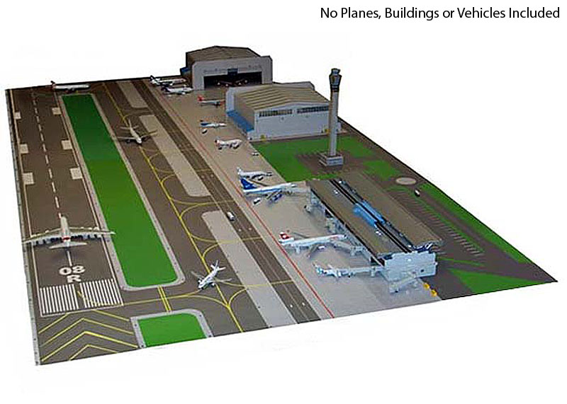 1st Choice Dual Scale Airport Layout Mat Set FC-AAL005 <br>Airport Mat with no planes, Buildings or Vehicles