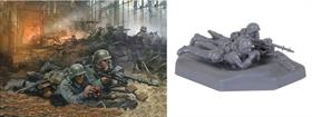 Zvezda 1/72 German Machine Gun Crew Eastern Front 1941 Figure Set 6106