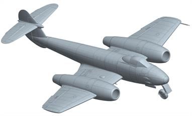 Hong Kong Models 1/32 Gloster Meteor Mk4 Jet Aircraft kit HK01E06Wing Span : 355mm Length: 394mm The Meteor kit will include markings for RAF & Argentine aircraft and measures 39cm long with a wingspan of 35cm.Glue and paints are required to assemble and complete the model (not included)