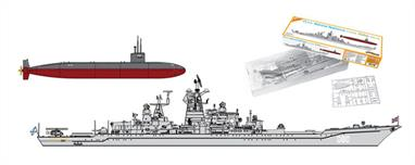 Dragon (Plastics) 1/700 Cyberhobby USSR Admiral Nakhimov & USS Dallas Sub Twin Ship Kit Set 7112Glue and paints are required to assemble and complete the model (not included)