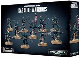 This box set contains 10 multi-part plastic Drukhari Warriors.Models supplied with 25mm round bases.