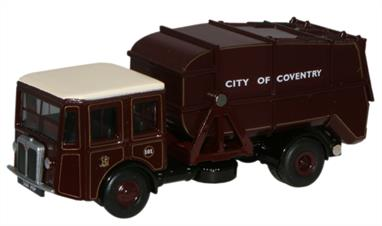 Oxford Diecast 1/76 Shelvoke & Drewry Dustcart Coventry 76SD004