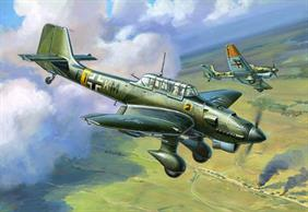 Zvezda 1/144 German Stuka Dive Bomber Snap Kit 6123Model consists of 7 parts, stand is also included decals for Luftwaffe.