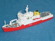 Fine resin kit of the Royal Navy's Ice Patrol vessel HMS Endurance. Resin hull and parts with brass detail and transfers.