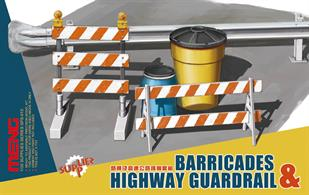 Meng's PS-013 1/35th scale Barriers and Highway Guard Set