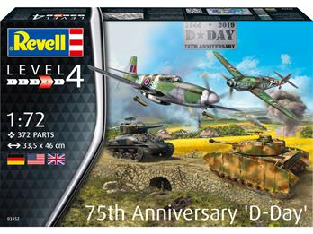 Revell 03352 D-Day 75th Anniversary Gift Set75 years ago thousands of allied soldiers landed on the beaches of Normandy to free Europe from the Nazis.