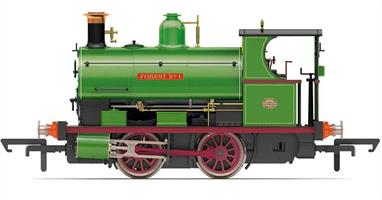 A highly detailed and smooth running model of the Peckett class W4 0-4-0 saddle tank industrial shunting engine.Model finished in Peckett light green as Charity Colliery locomotive FOREST No1