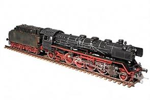 Plastic model kit of the German Railways 41 class 2-8-2 type fast goods train locomotive.These locomotives were built from 1937 until 1941, with 366 examples completed. After WW2 several examples of this class were transferred to other European countries' railway authorities as reparations and, while DB & DR engines were mostly replaced in the 1960s & 70s the last example was officially withdrawn in 1986.