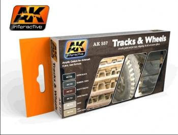 AK Interactive Track And Wheels Paint And Weathering Set  AK557