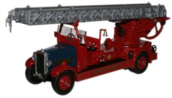 Oxford Diecast 1/76 Leyland TLM Fire Engine Borough of Dover 76TLM005