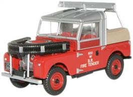 "Oxford Diecast 1/76 Land Rover 88"" Fire Tender British Rail 76LAN188015"